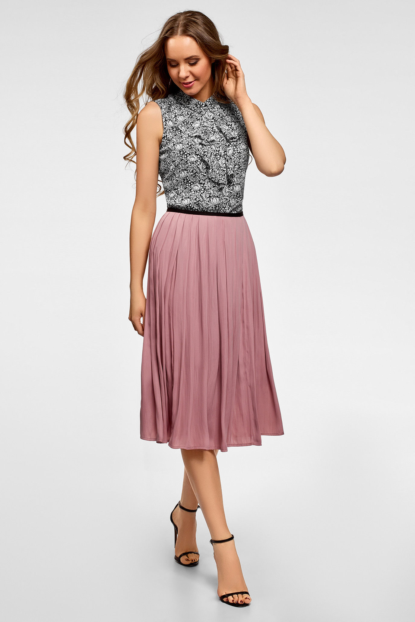 Купить Женская черная блуза с принтом Oodji Oodji 24911001B/36215/2912F – Киев, Украина. Цены в интернет магазине MD Fashion
