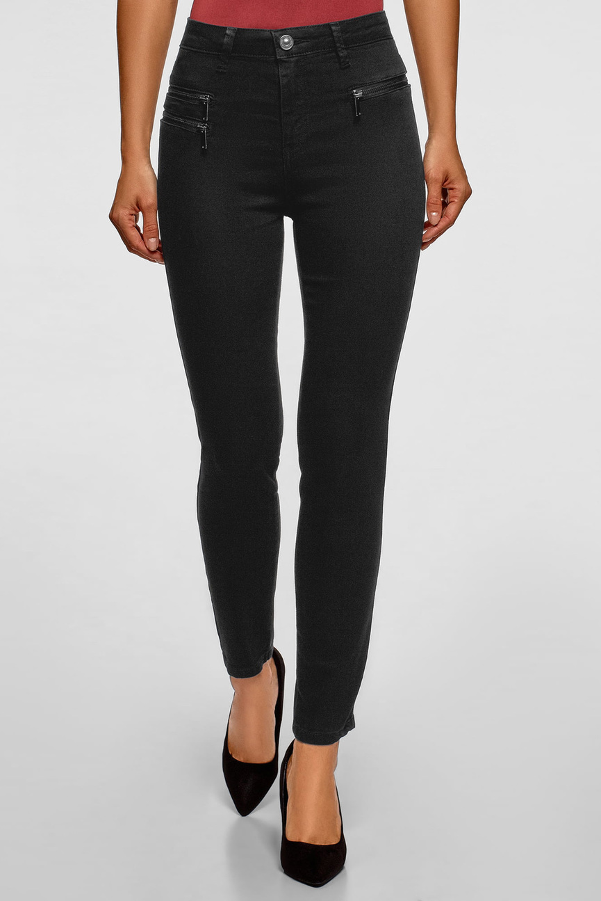 Женские черные джинсы Skinny