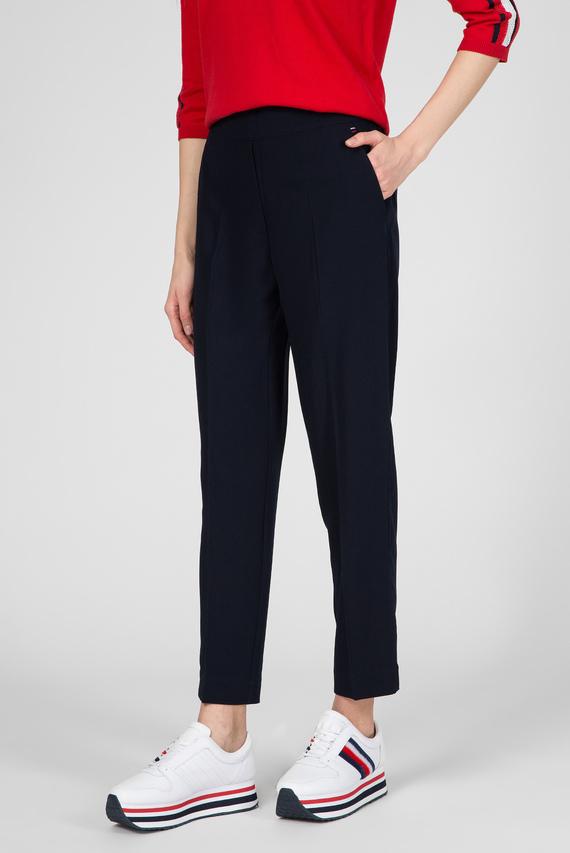 Женские темно-синие брюки TH ESS POLY TWILL TAPERED