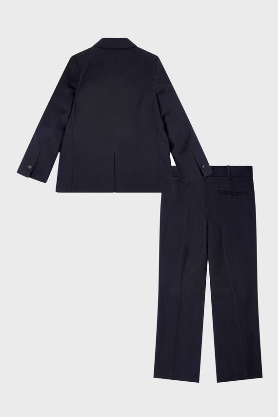 Детский черный костюм (пиджак, брюки, рубашка)