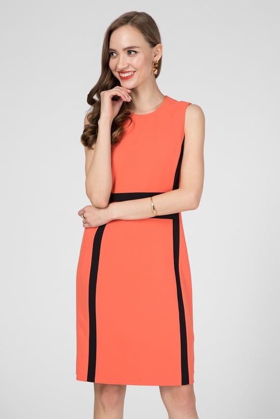 Женское оранжевое платье CONTRAST PANEL