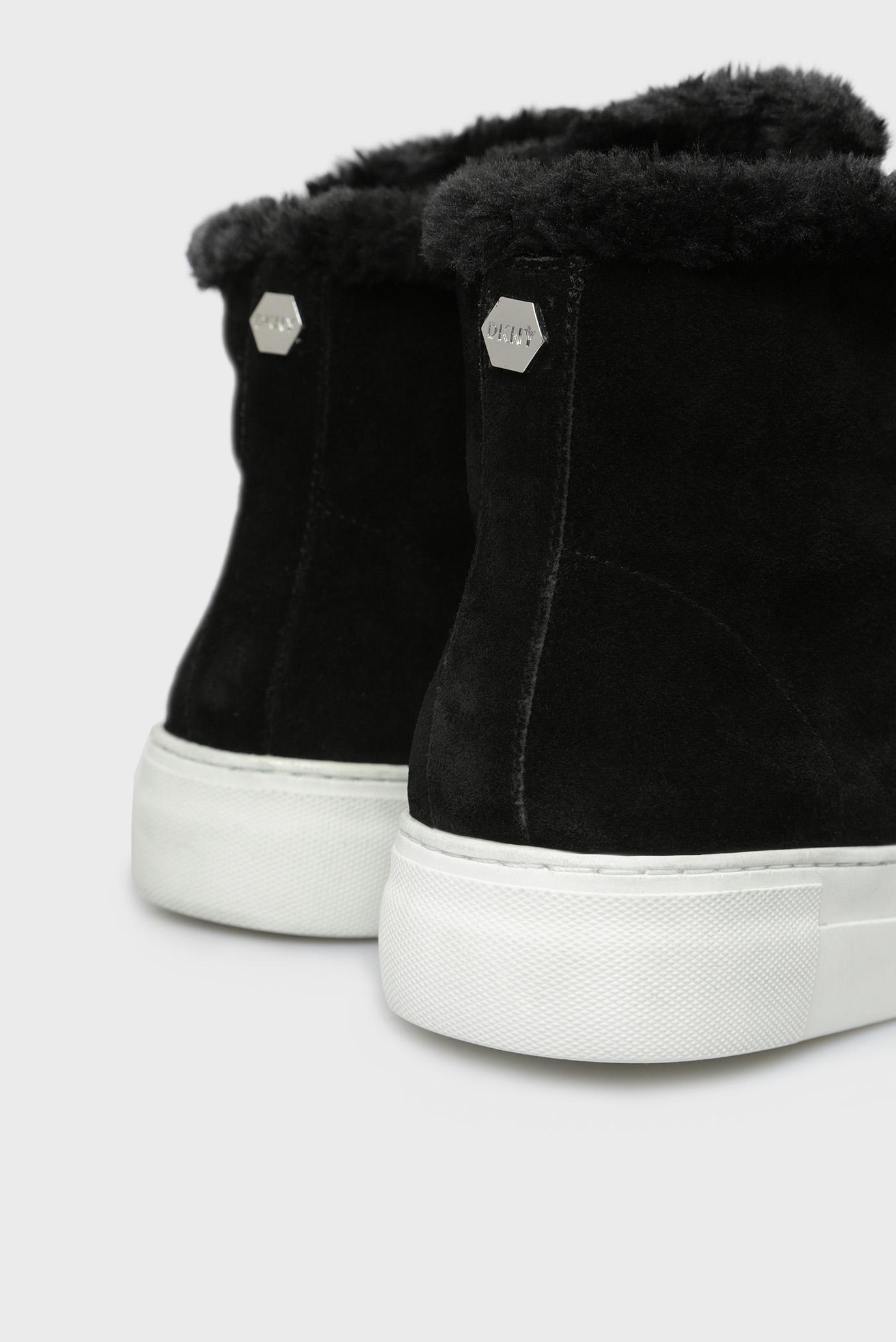 Купить Женские черные замшевые хайтопы MASON DKNY DKNY K3899353 – Киев, Украина. Цены в интернет магазине MD Fashion