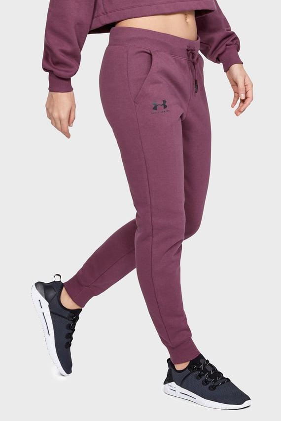 Женские фиолетовые спортивные брюки RIVAL FLEECE SPORTSTYLE GRAPHIC PANT
