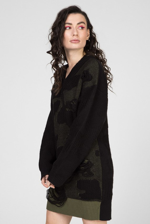 Женское черное платье M-CUZZ