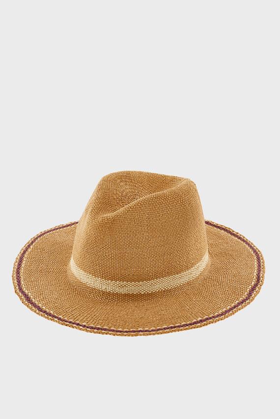 Женская бежевая шляпа CASABLANCA FEDORA