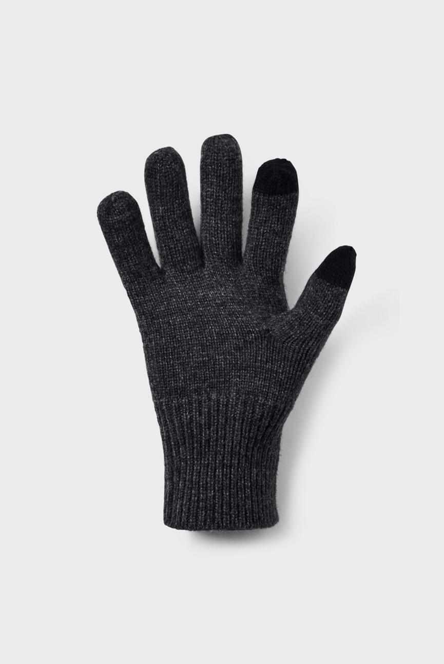 Мужские черные перчатки Men's Knit Wool Glove