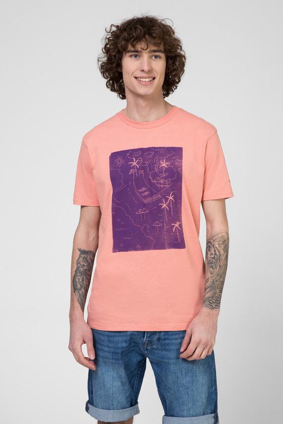 Мужская розовая футболка с принтом SHAD