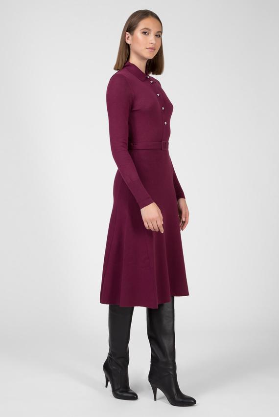 Женское бордовое платье ZENDAYA FINE GAUGE