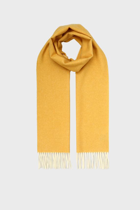 Женский желтый двусторонний шарф TWO FACED TWILL SCARF