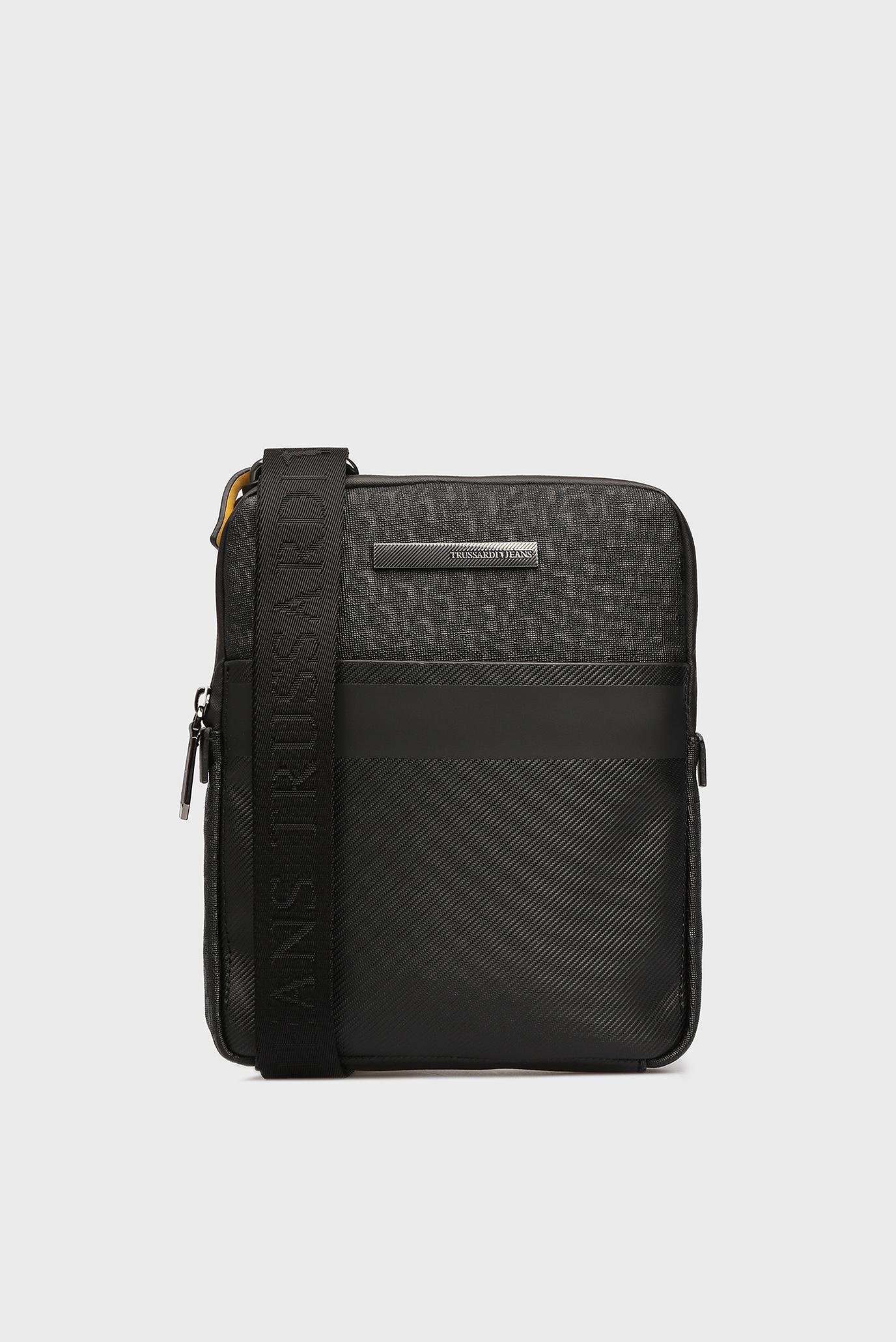 Купить Мужская черная сумка через плечо Trussardi Jeans Trussardi Jeans  9Y099999 71B00082 – Киев, Украина. Цены в интернет магазине ... 2c456874c38