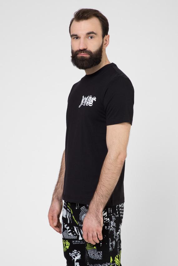 Мужская черная футболка T-JUST-T31