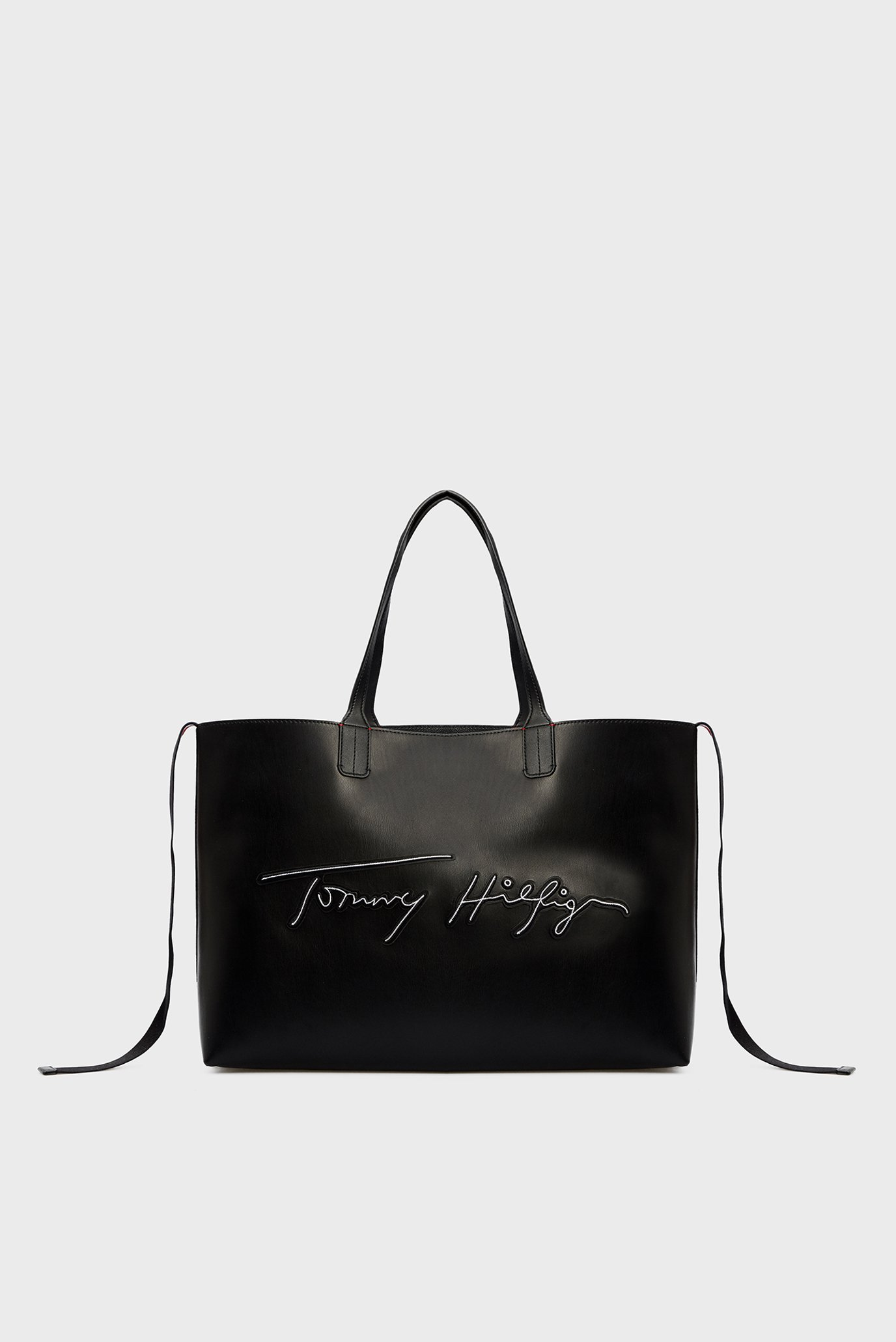 Женская черная сумка ICONIC TOMMY TOTE SIGNATURE 1