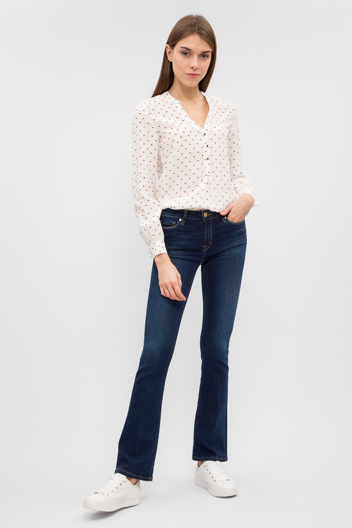 Купить Женская белая блуза в горошек Tommy Hilfiger Tommy Hilfiger WW0WW20858 – Киев, Украина. Цены в интернет магазине MD Fashion