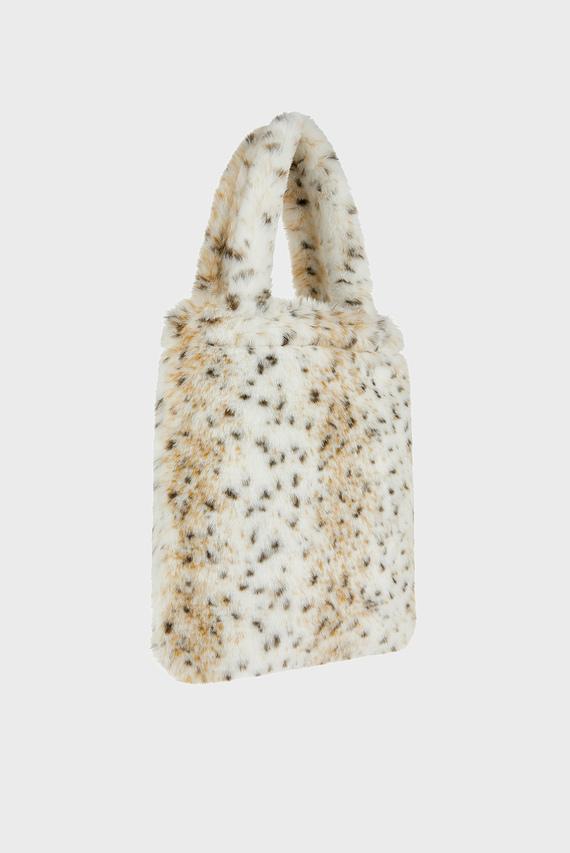 Детская розовая сумка Olivia Leopard Fluff
