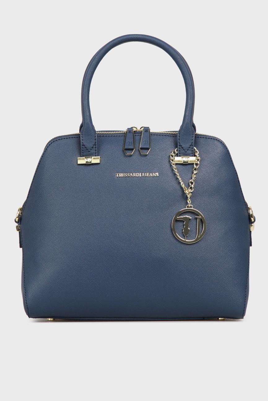 Женская синяя сумка на плечо
