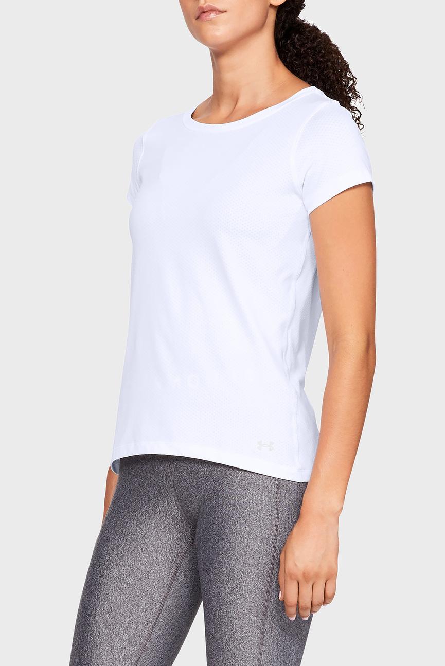 Женская белая футболка UA HG Armour
