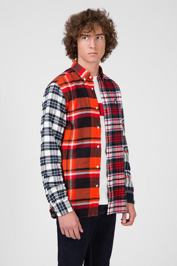 Мужская рубашка в клетку LEWIS HAMILTON MULTI CHECK