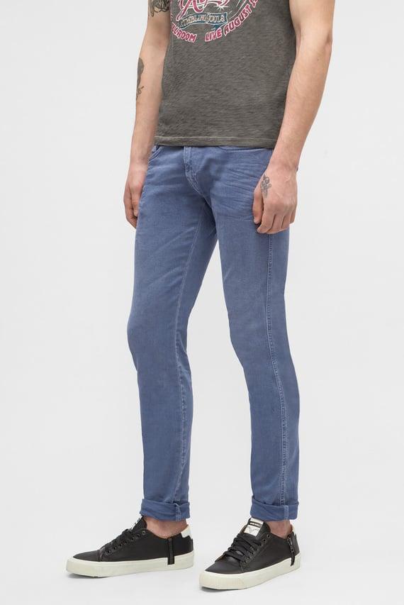 Мужские синие джинсы ANBASS BACK ZIP
