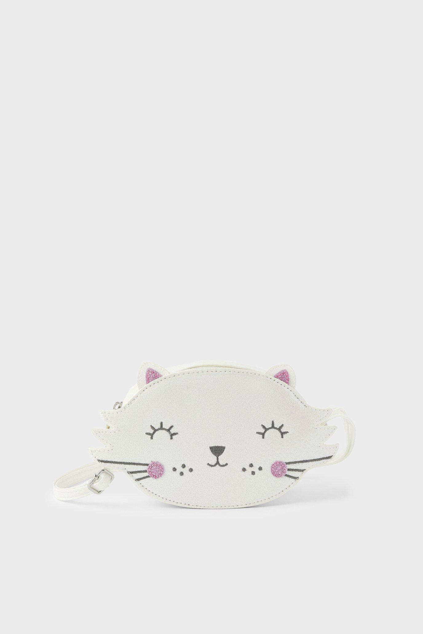 Дитяча біла сумка CAT ACROSS BODY BAG 1