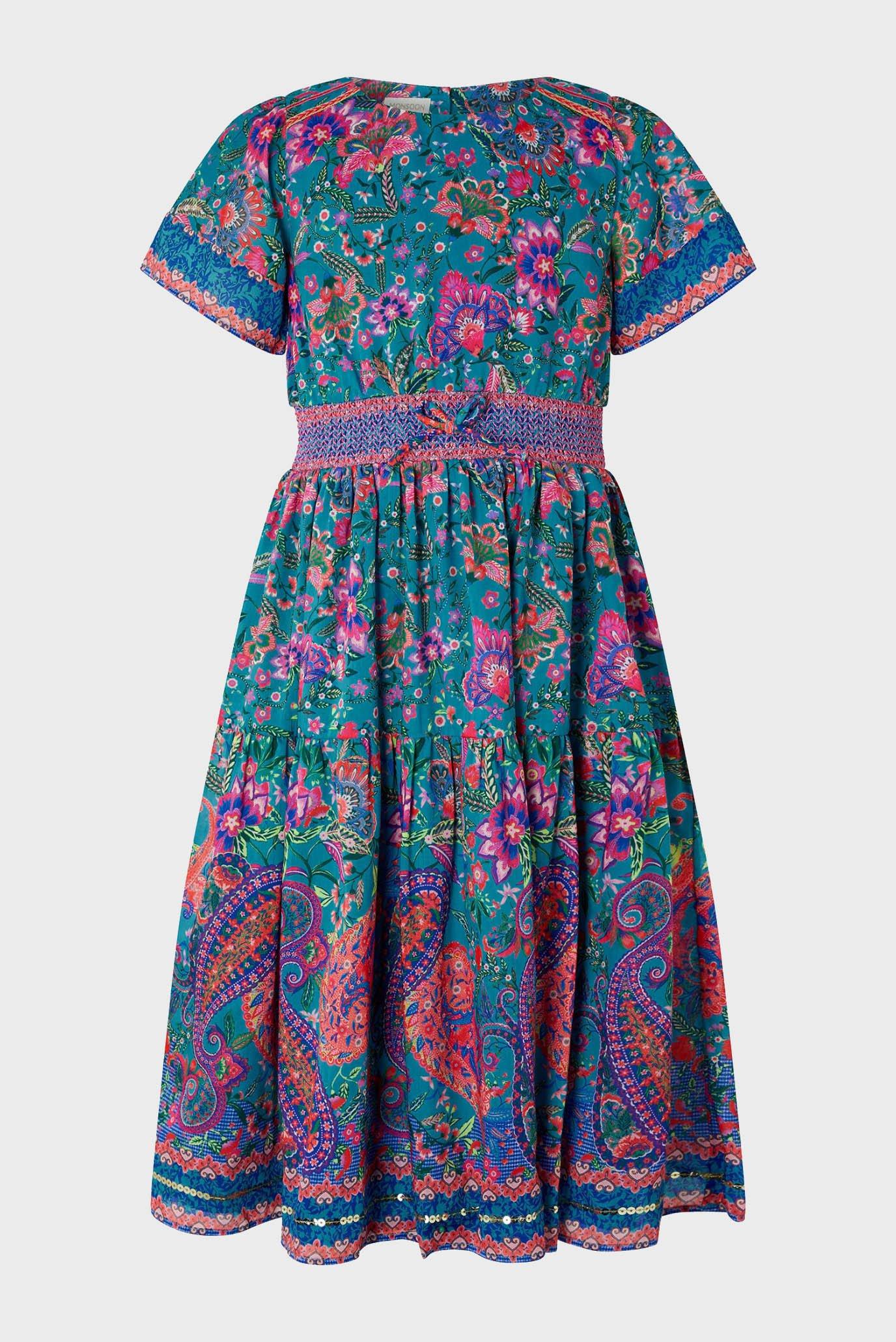 Дитяча сукня TEAL PAISLEY 1