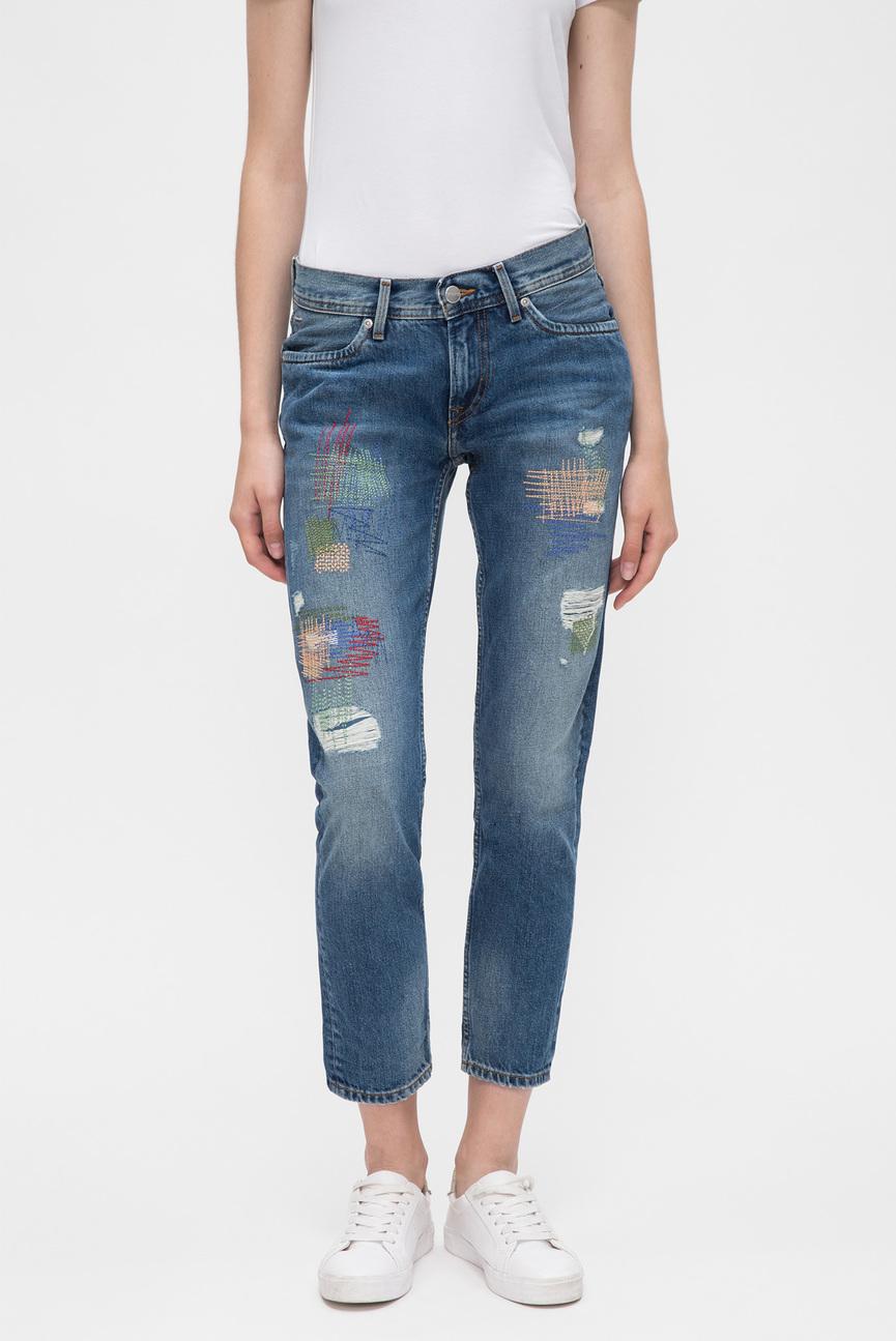 Женские синие джинсы JOEY STITCHED