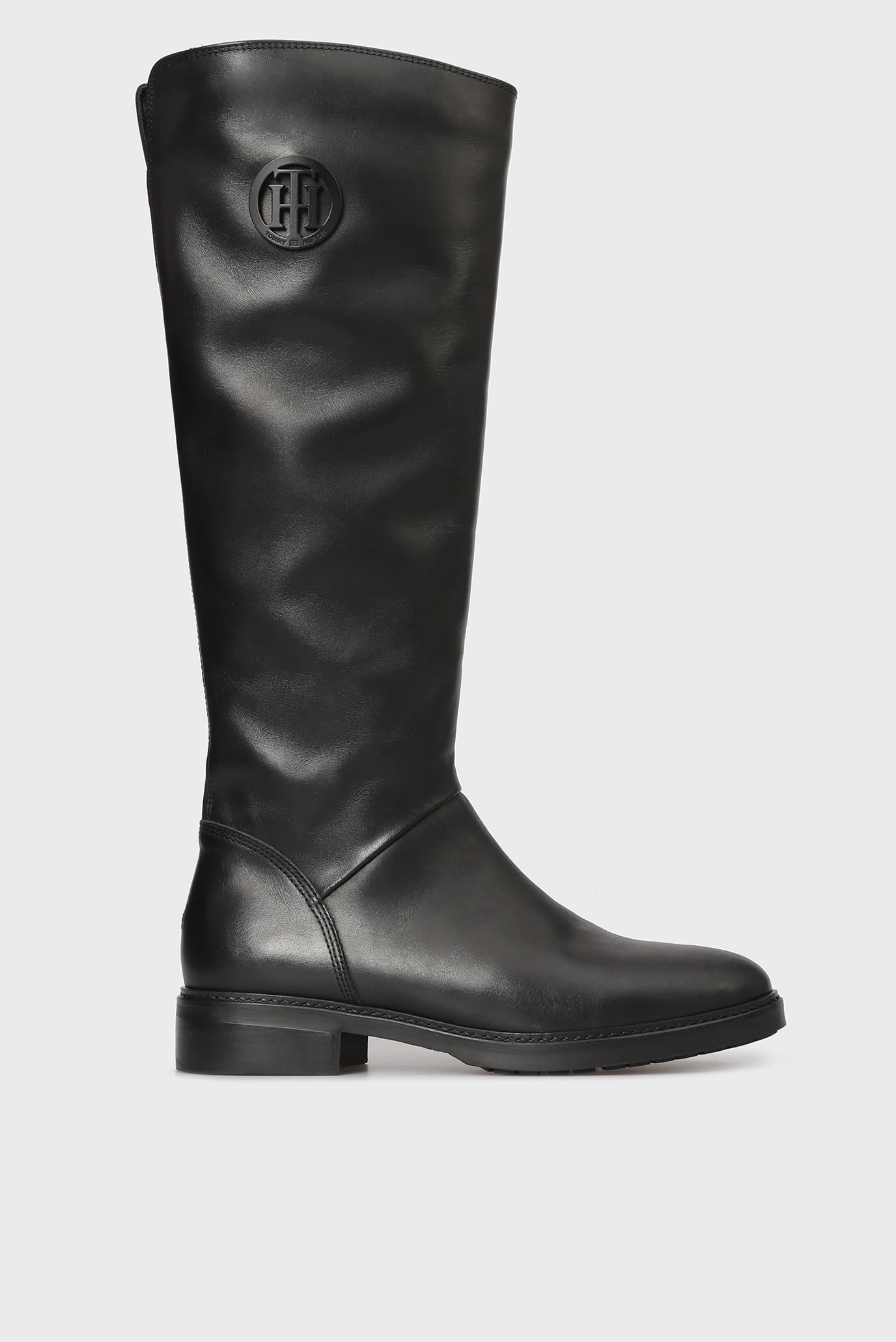 Купить Женские черные кожаные сапоги Tommy Hilfiger Tommy Hilfiger  FW0FW03433 – Киев cce9934c582da
