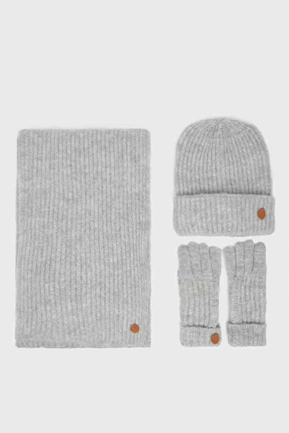 Женский набор аксессуаров CLARA (шарф, шапка, перчатки)