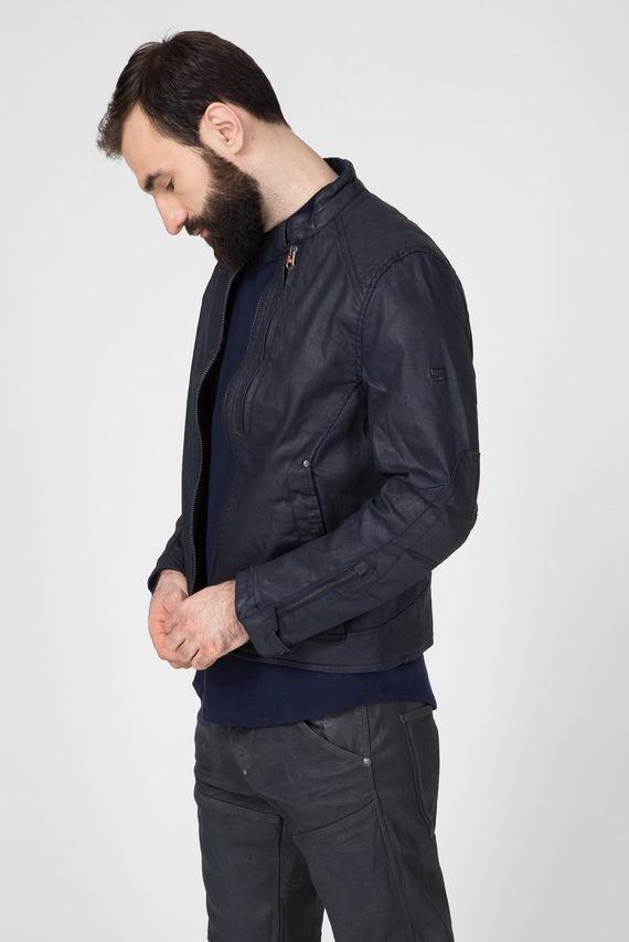 Мужская темно-синяя куртка Biker denim