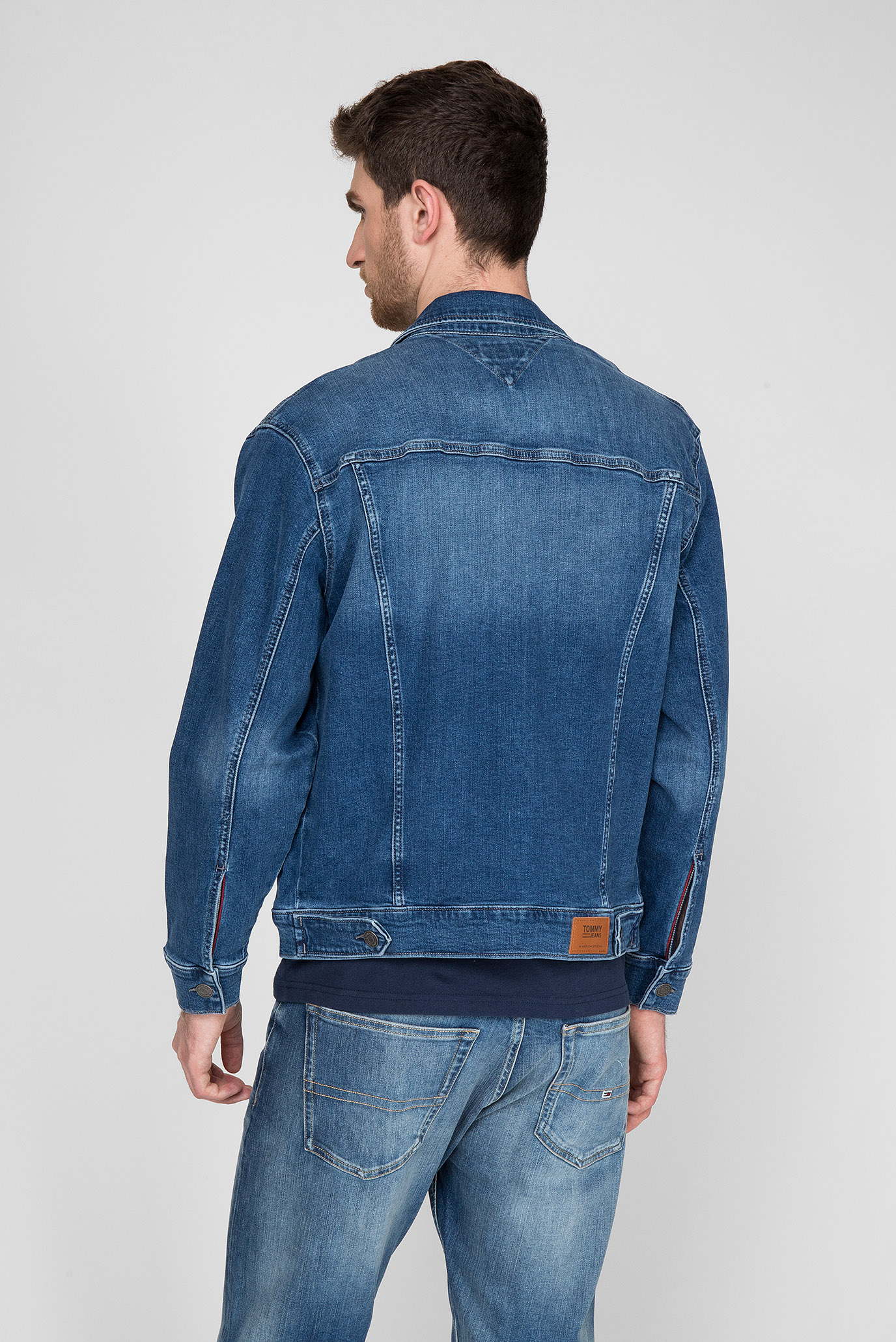 Мужская синяя джинсовая куртка OVERSIZED DENIM TRUCKER Tommy Jeans
