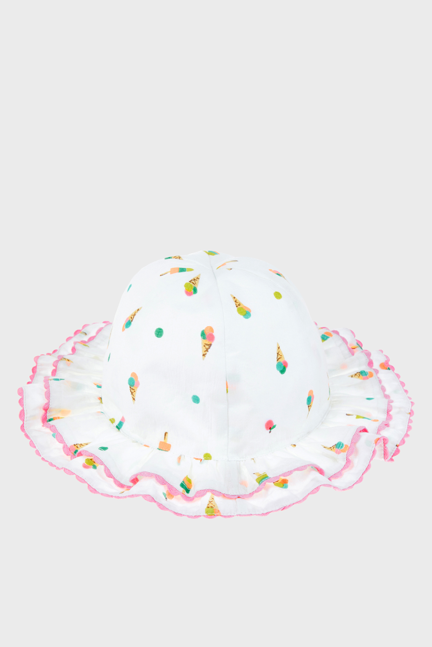 Детская белая шляпа DOUBLE FRILL ICE CRE Monsoon Children