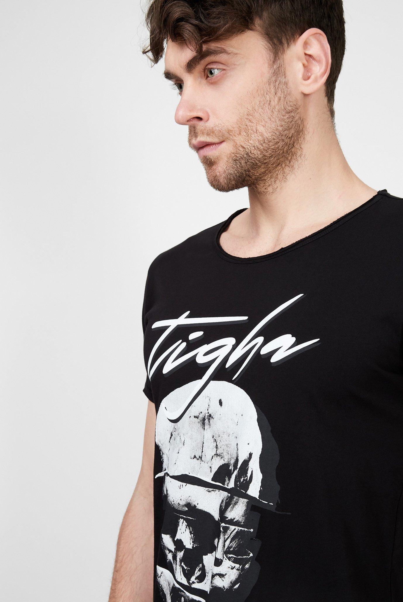 Мужская черная футболка Splitted Wren Tigha