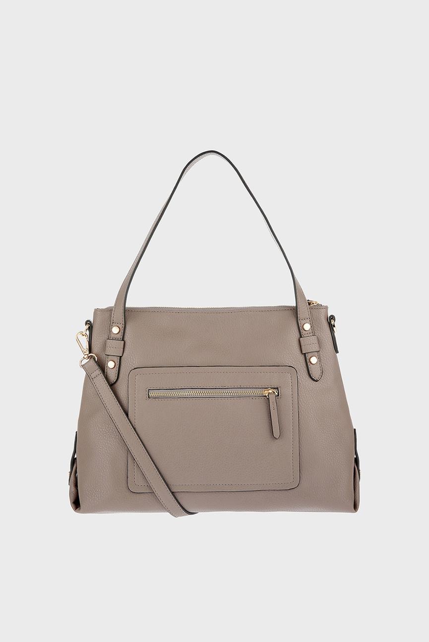 Женская бежевая сумка через плечо ALI ZIP SHOULDER