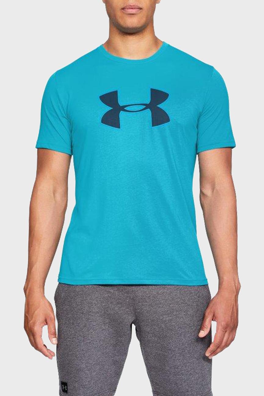 Мужская голубая футболка UA BIG LOGO SS