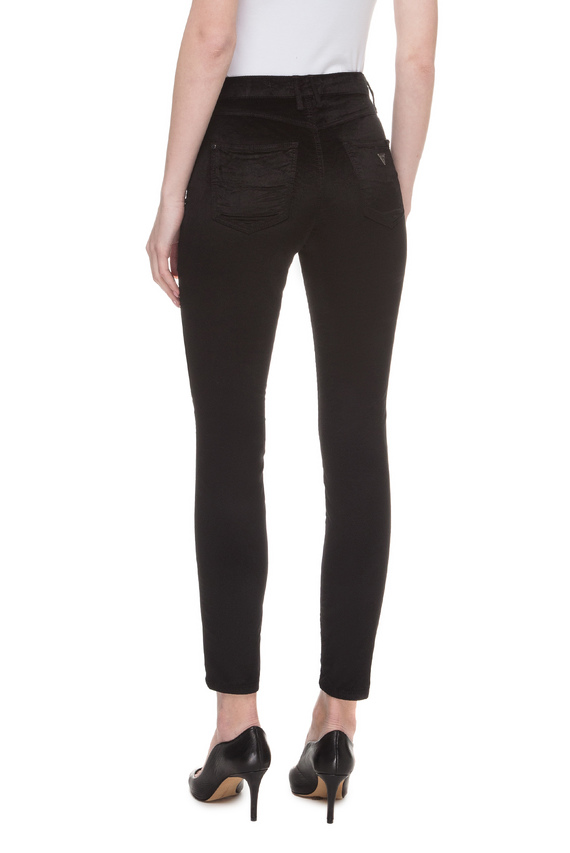 Женские черные велюровые джинсы 1981 Skinny High