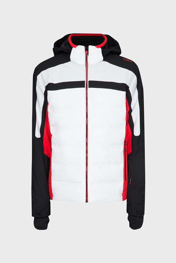 Мужская белая лыжная куртка