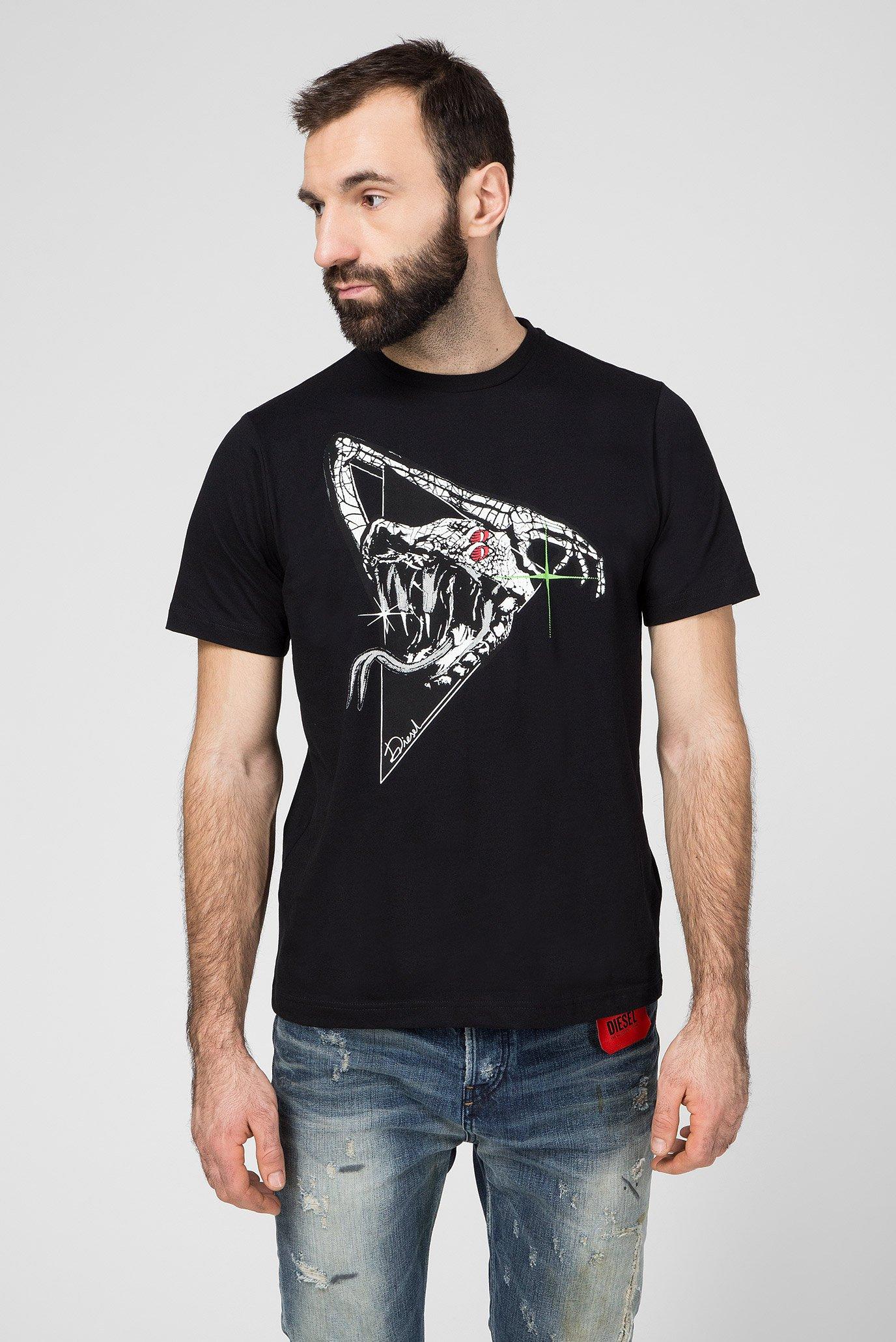 Мужская черная футболка T-JUST-J15 1