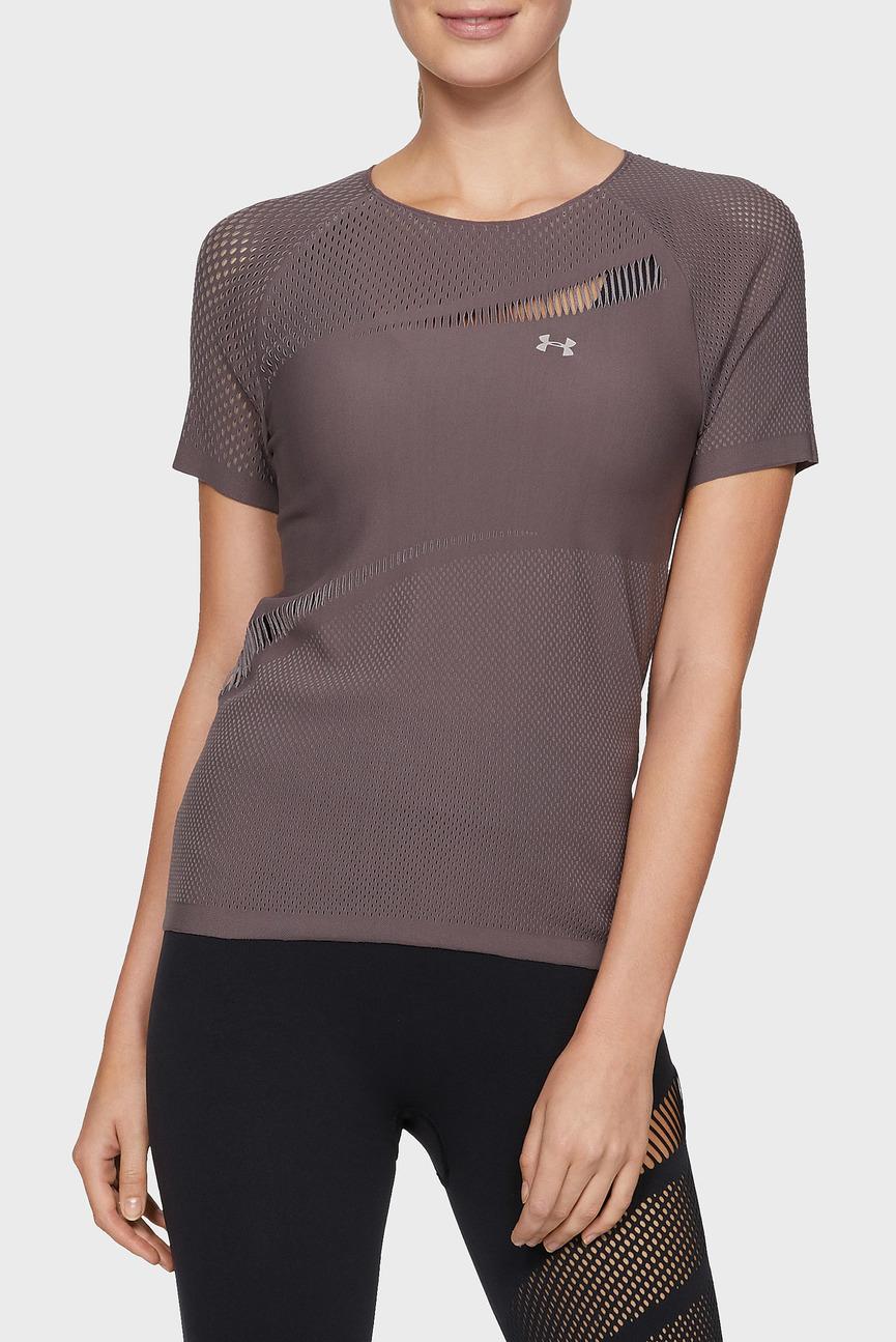 Женская коричневая футболка Beat The Heat