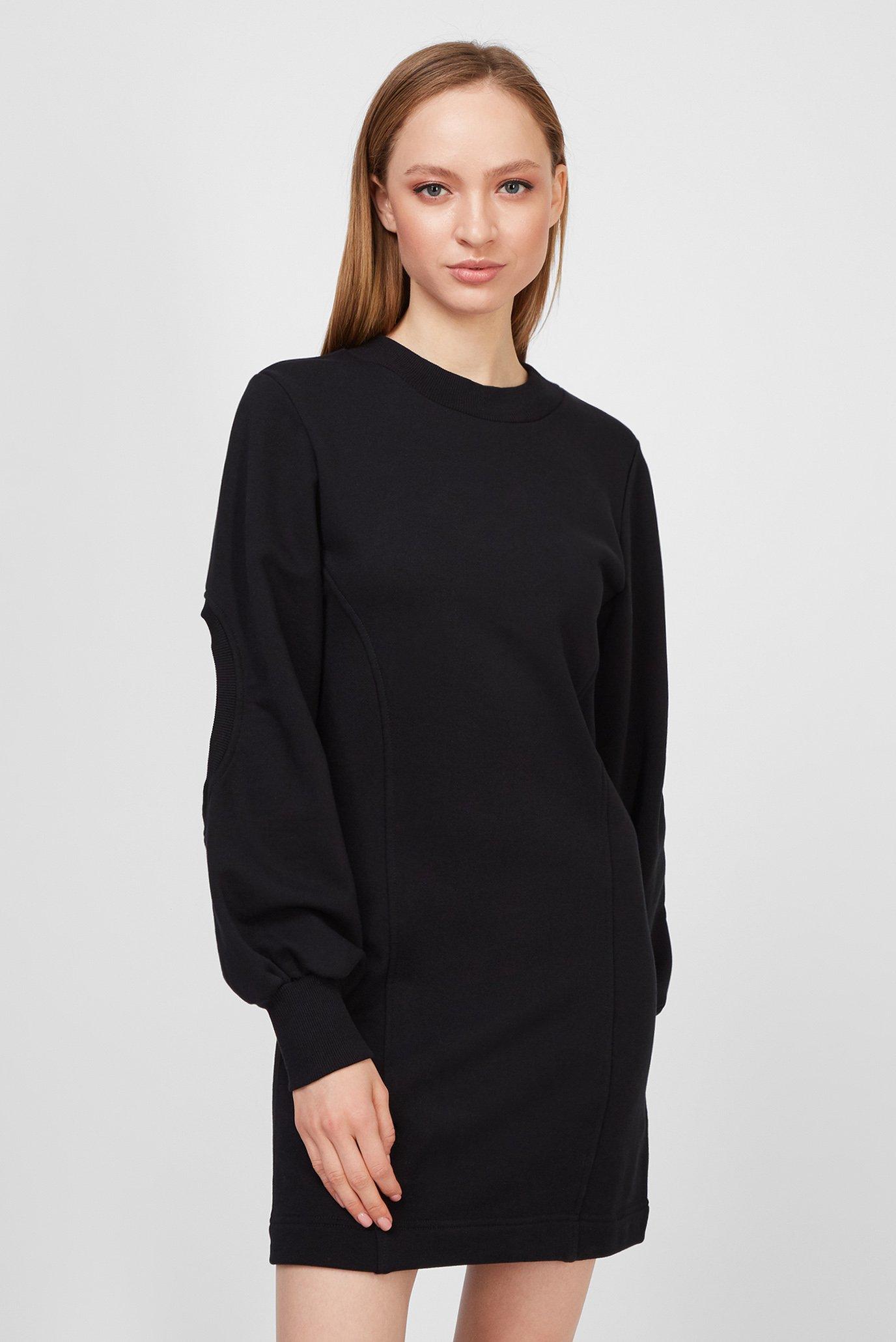 Женское черное платье D-CIOND 1