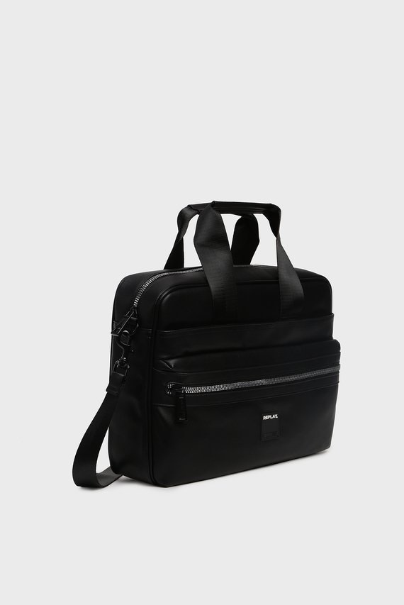 Мужская черная сумка для ноутбука