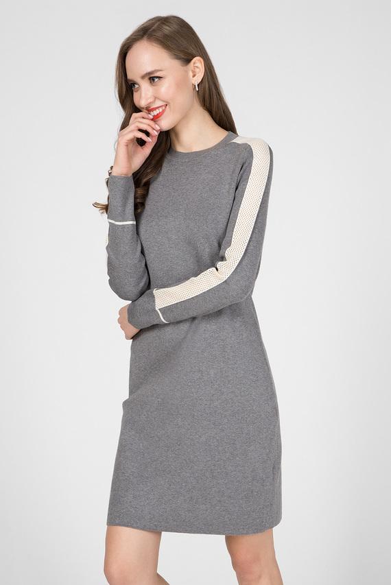 Женское серое платье LS KNITTED