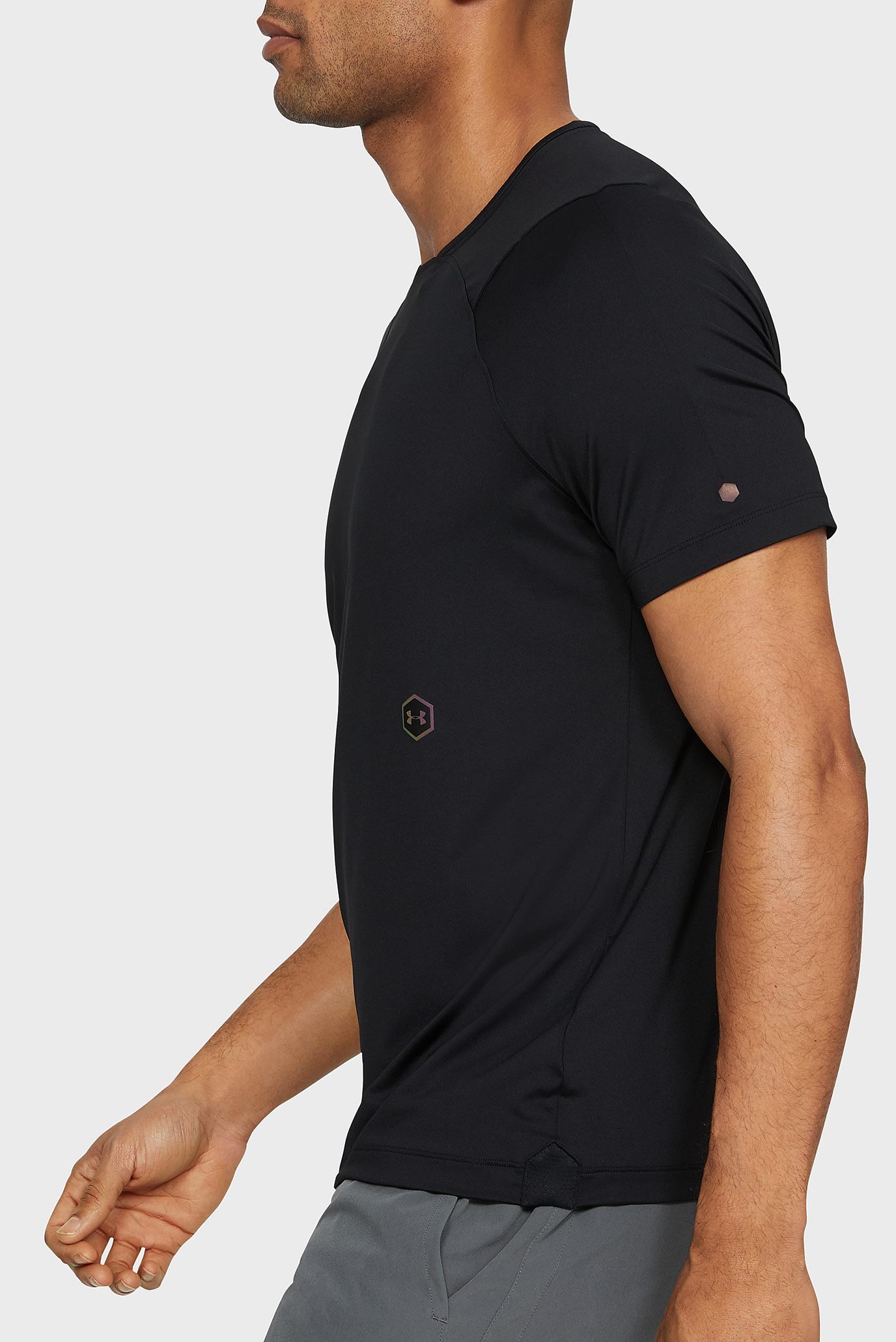 Чоловіча чорна футболка UA Rush SS 1