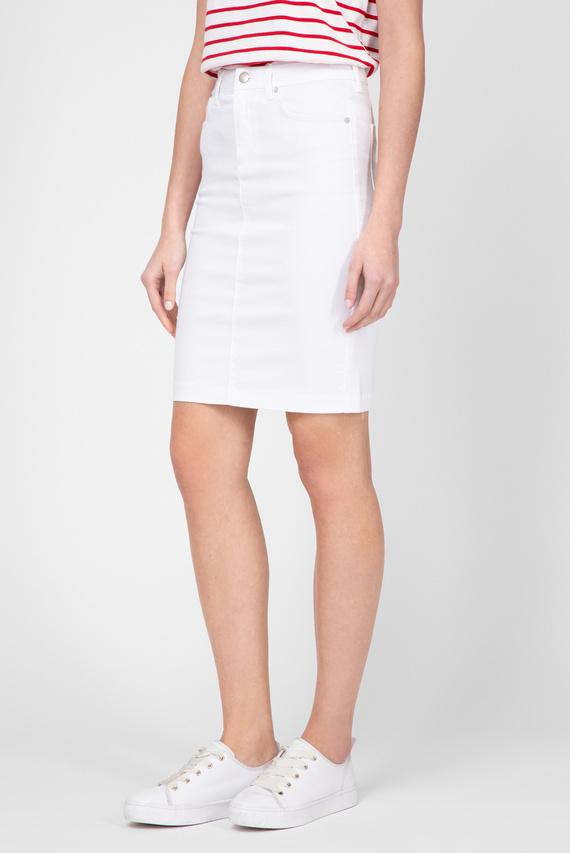 Женская белая джинсовая юбка