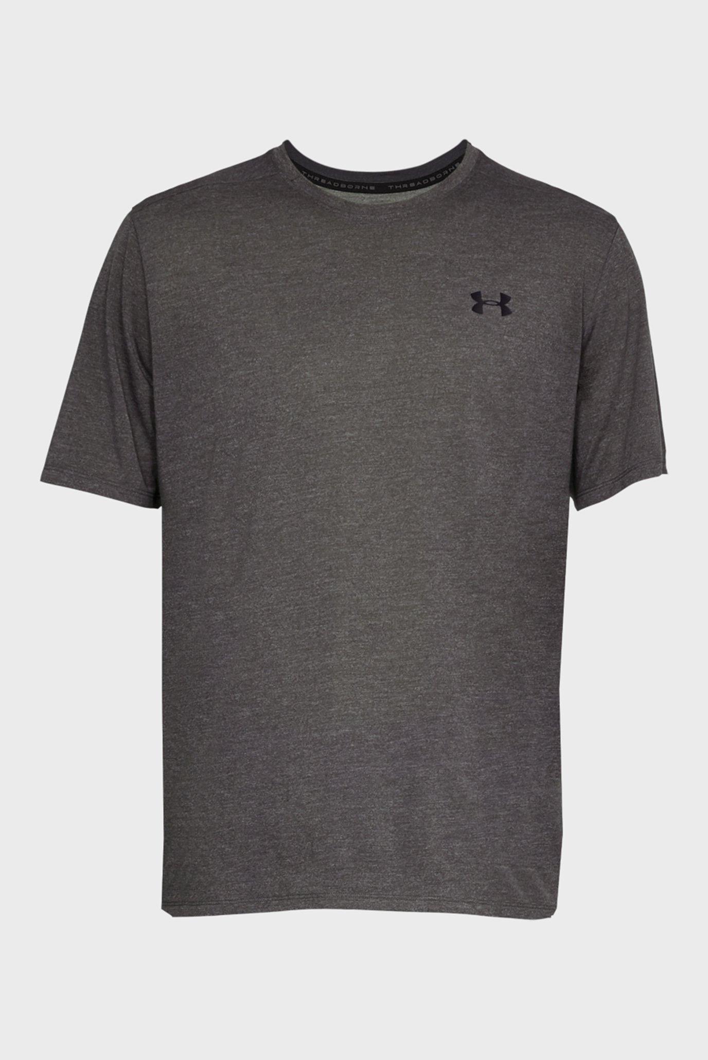 Купить Мужская серая футболка UA Threadborne Under Armour Under Armour 1325029-019 – Киев, Украина. Цены в интернет магазине MD Fashion