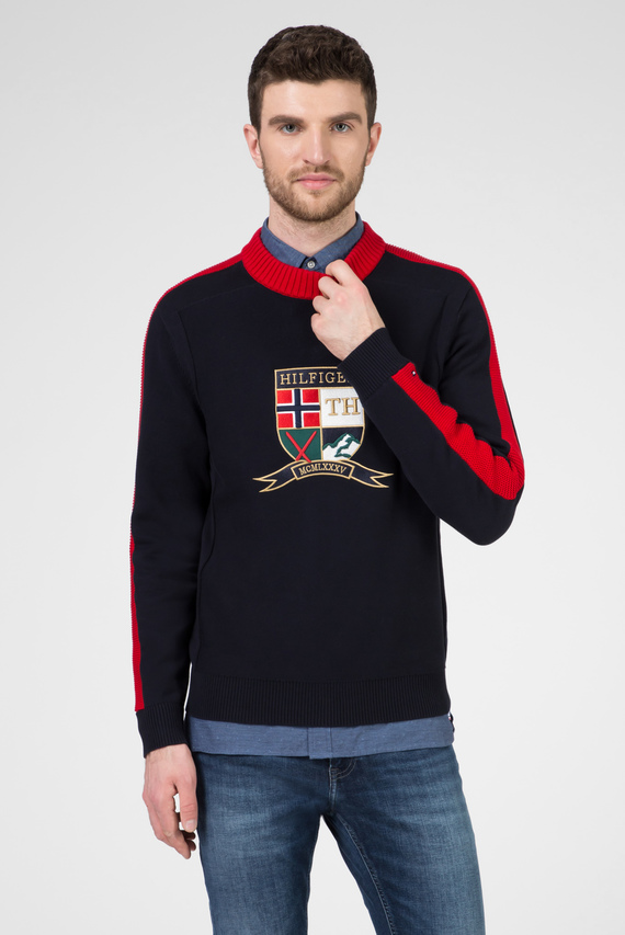 Мужской темно-синий свитер BOLD ARTWORK