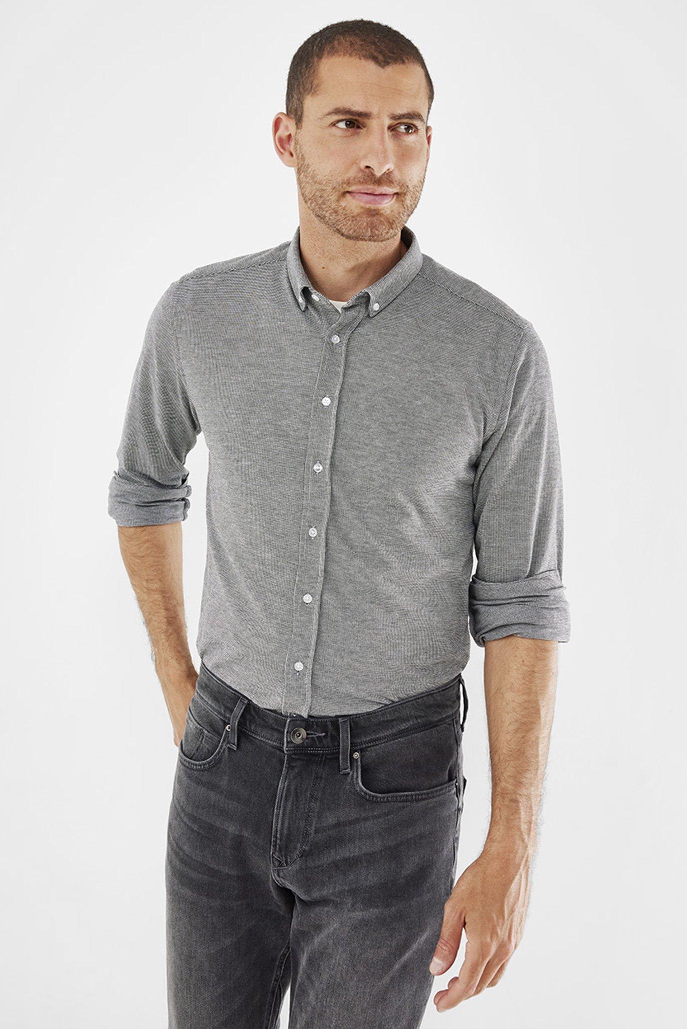Мужская серая рубашка 1