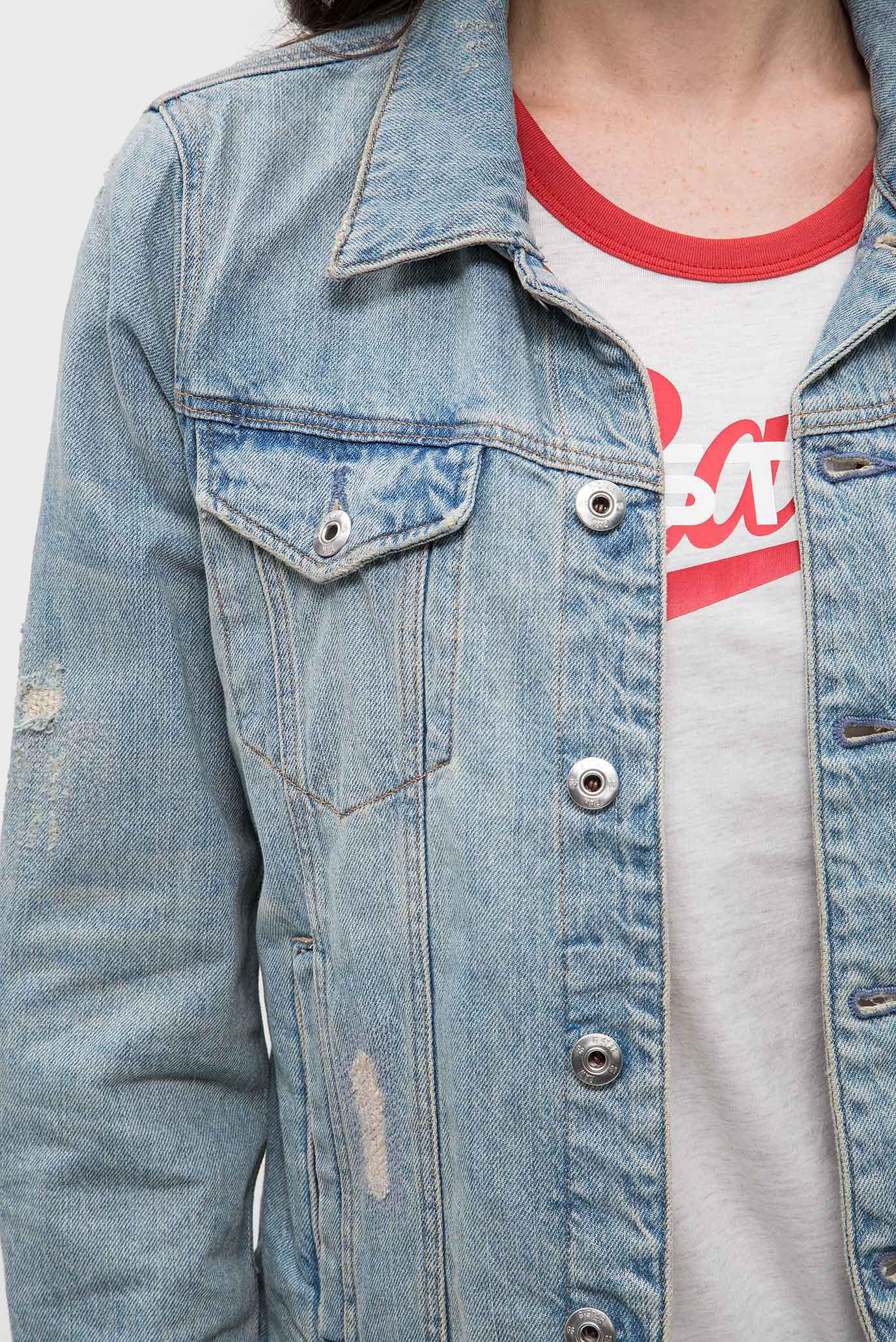 Купить Женская голубая джинсовая куртка 3301 jacket G-Star RAW G-Star RAW D10117,8973 – Киев, Украина. Цены в интернет магазине MD Fashion