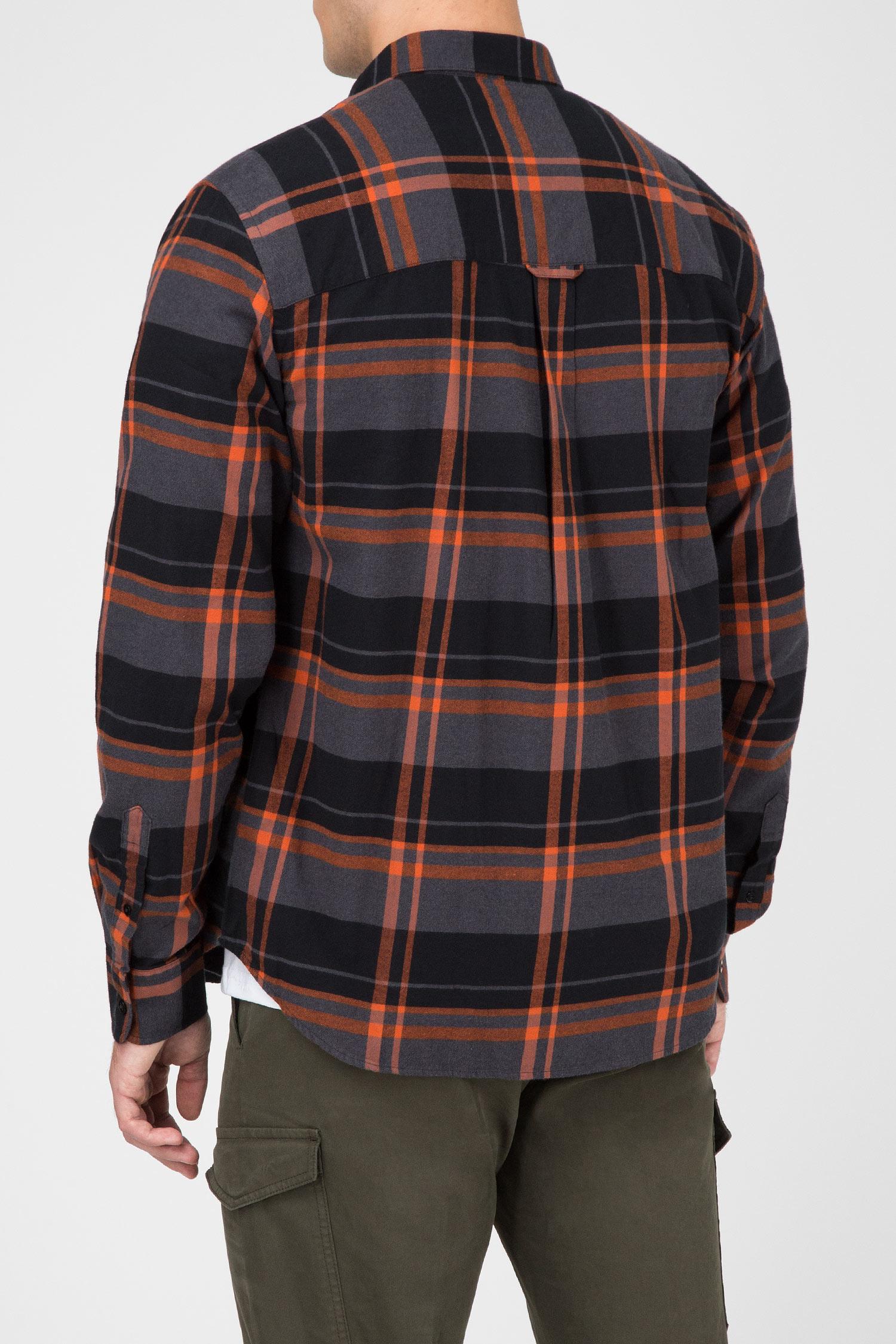 Мужская серая рубашка в клетку Peak Performance