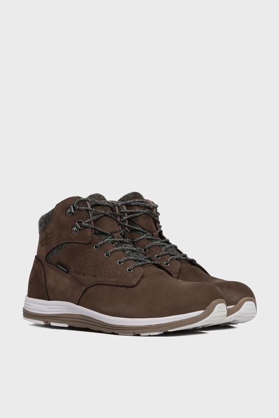 Мужские коричневые кожаные ботинки