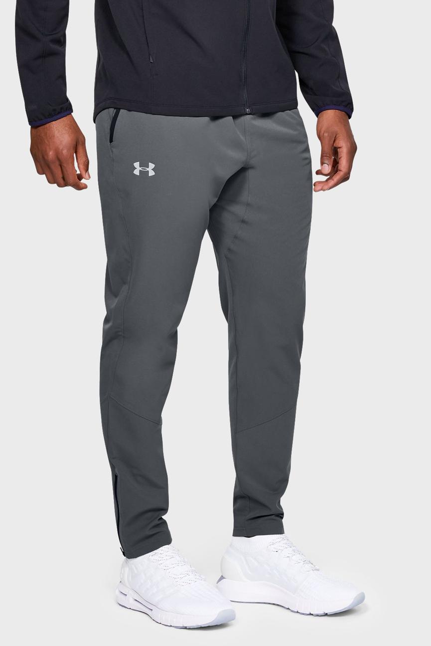 Мужские серые спортивные брюки UA STORM OUT & BACK SW PANT
