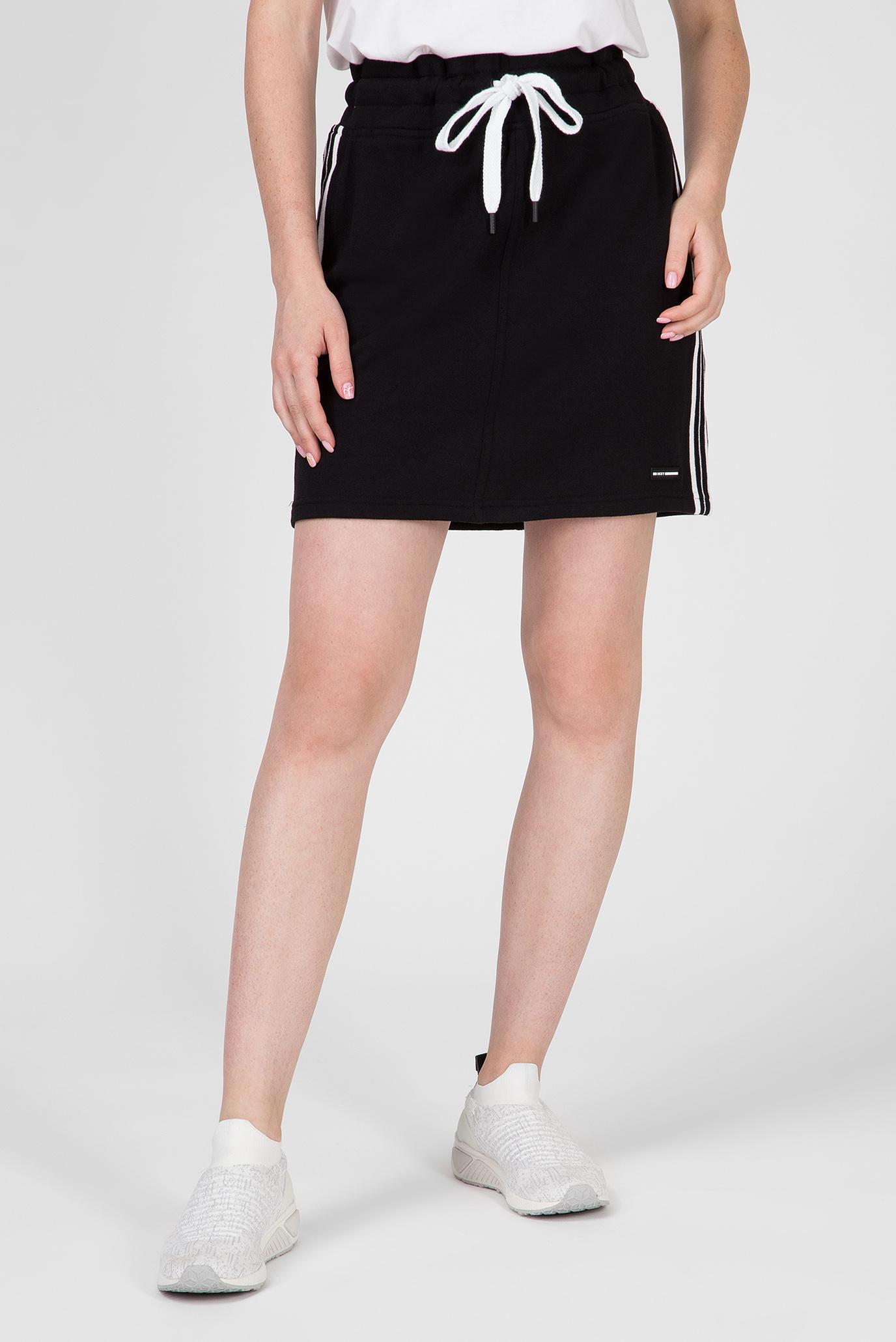 Купить Женская черная юбка LOGO DKNY DKNY DP9S4596 – Киев, Украина. Цены в интернет магазине MD Fashion
